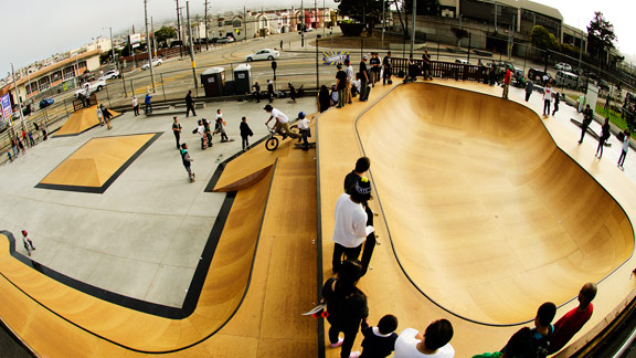Ever wonder what a skatepark looks like to a bird? Well here you go.