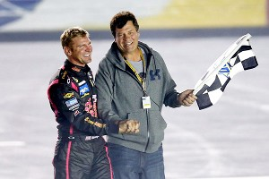 Michael Waltrip and Clint Bowyer