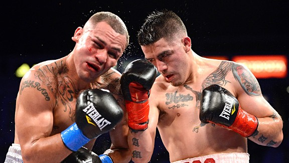Brandon Rios and Mike Alvarado