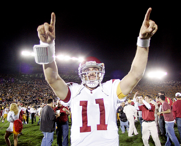 Matt Leinart against Notre Dame in 2005