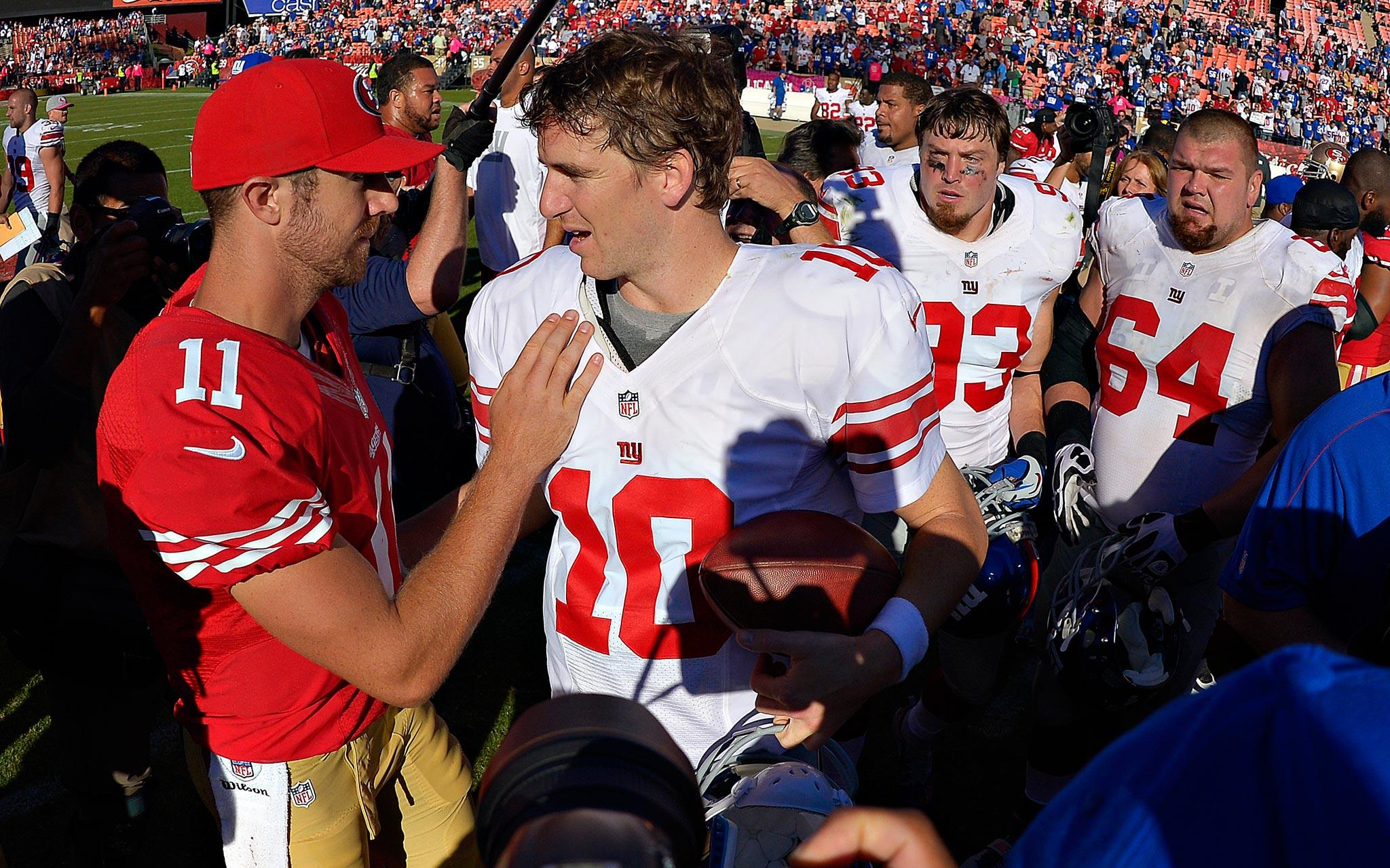 Alex Smith and Eli Manning