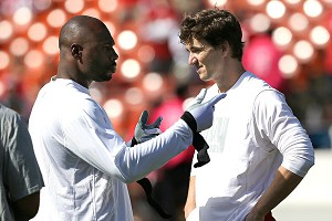 Brandon Jacobs and Eli Manning