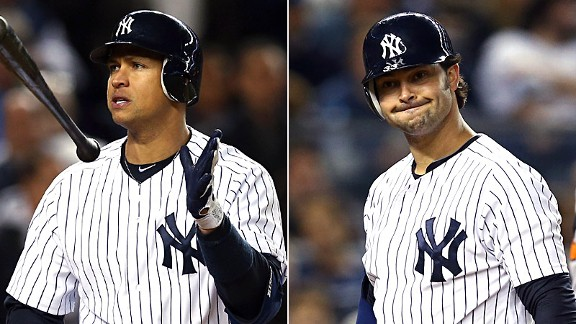 Alex Rodriguez and Nick Swisher