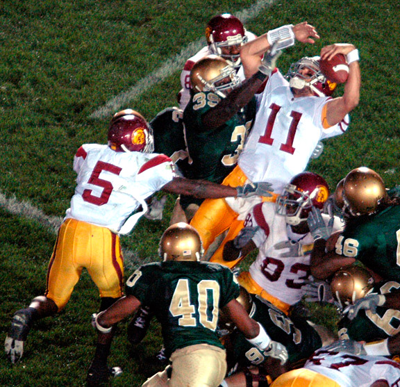Matt Leinart and Reggie Bush against Notre Dame in 2005