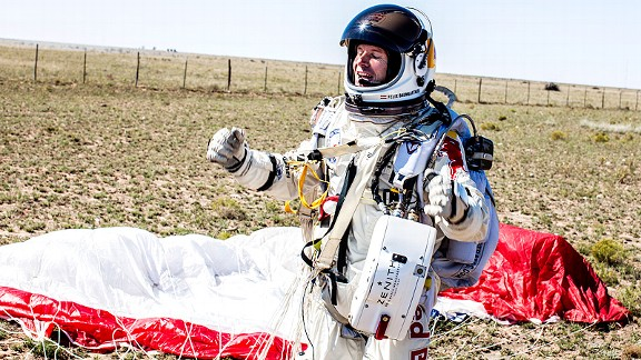 Felix Baumgartner after Red Bull Stratos