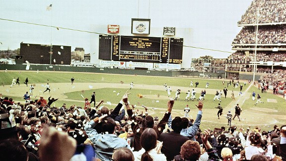 Mets fans at Shea Stadium after the 1969 World Series