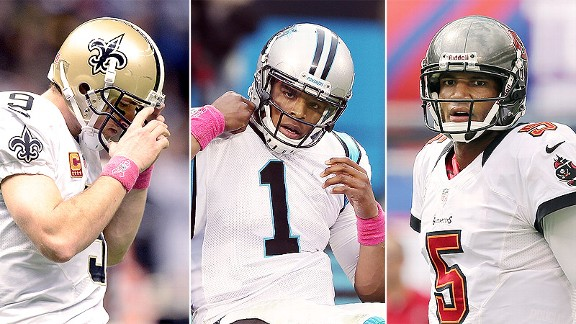 Who's No. 2 in the NFC South?