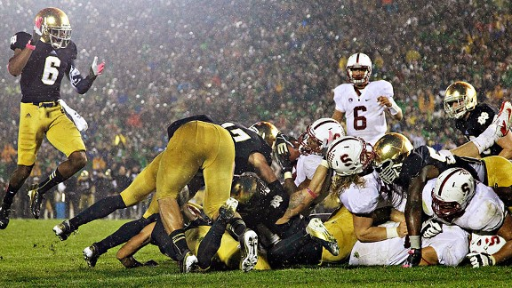 college football play offs notre dame stanford score