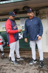 DeMarlo Hale and Terry Francona