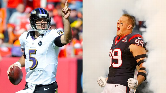 Joe Flacco, JJ Watt