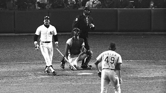 Reggie Jackson of the New York Yankees during the 1977 World Series