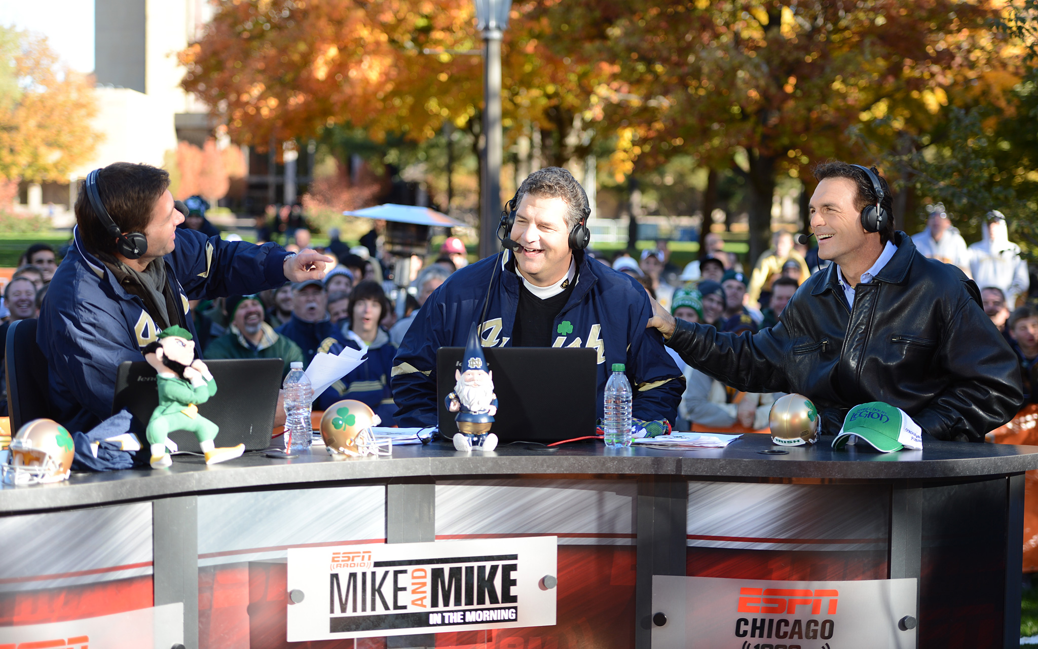 Mike and Mike at Notre Dame