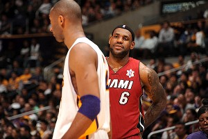 LeBron James and and Kobe Bryant