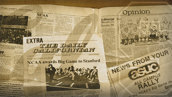 Stanford students' fake Cal newspaper after The Play