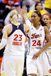 Katie Douglas and Tamika Catchings