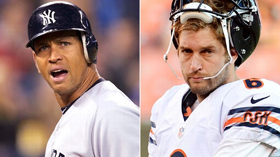 Alex Rodriguez and Jay Cutler
