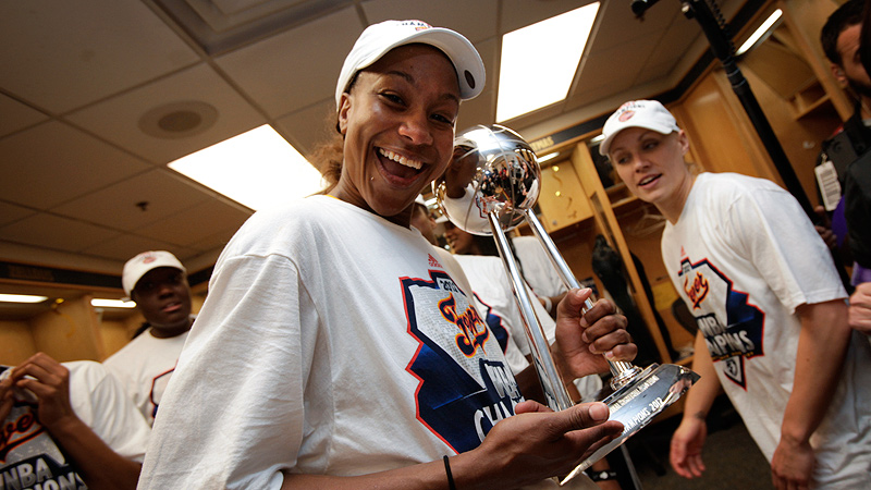 In 2012, Tamika Catchings, 33, was the only WNBA player to start every regular-season and playoff game, as well as every game in the Olympics.