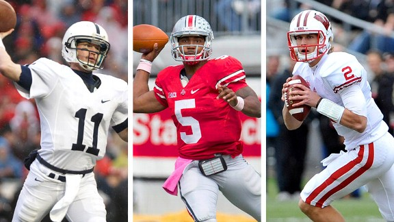 Matt McGloin, Braxton Miller and Joel Stave