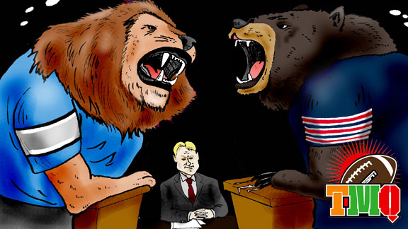 Presidential debate featuring Monday Night Football participants Detroit Lions and Chicago Bears