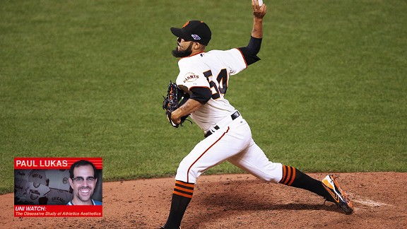 Sergio Romo striped socks Uni Watch