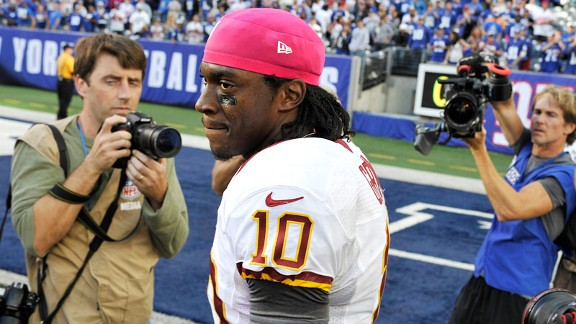 Robert Griffin III after his Washington Redskins lost to the New York Giants