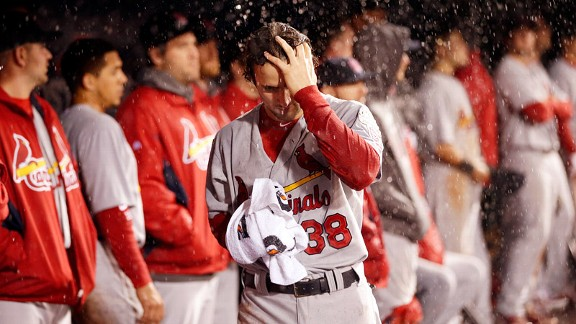 Pete Kozma after his St. Louis Cardinals lost to the San Francisco Giants