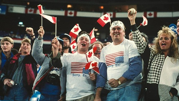 Toronto Blue Jays fans in the 1992 World Series