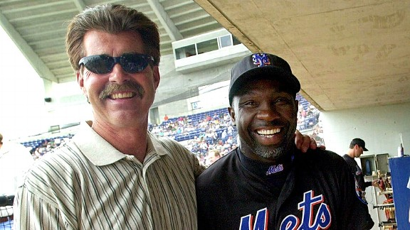 Bill Buckner and Mookie Wilson, years after the 1986 World Series