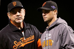 Bruce Bochy and Ryan Vogelsong