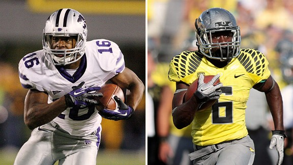 Tyler Lockett and De'Anthony Thomas