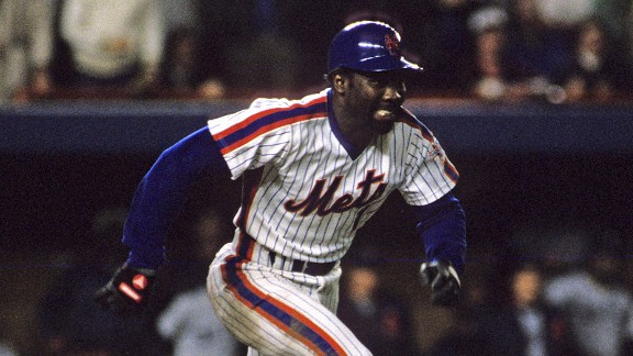 Mookie Wilson during the 1986 World Series against the Boston Red Sox