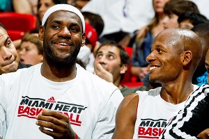 Ray Allen and LeBron James