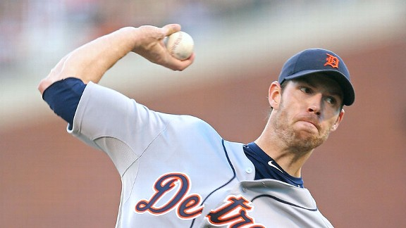 Detroit right-hander Doug Fister is 3-0 this season with a 2.00 ERA and 17 strikeouts.