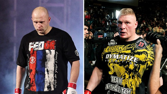 Fedor Emelianenko and Brock Lesnar
