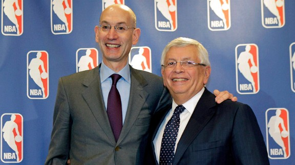 Adam Silver with Former Commissioner David Stern