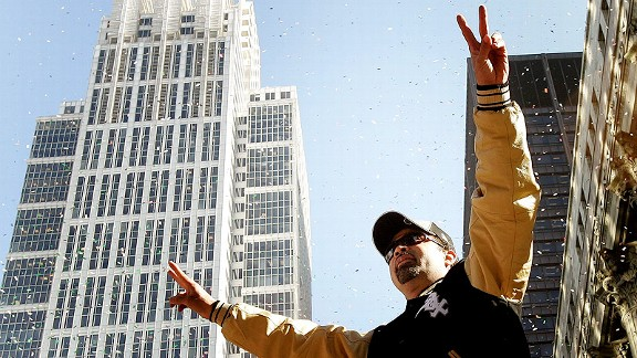 Ozzie Guillen during the Chicago White Sox World Series parade in 2005