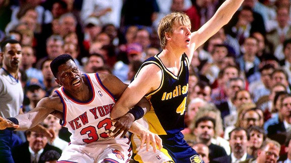 Rik Smits with the Indiana Pacers