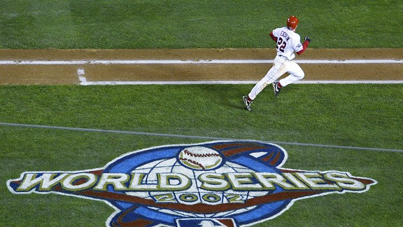 David Eckstein with the Anaheim Angels in the 2002 World Series