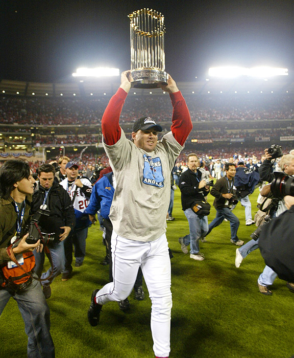 Tim Salmon with the Anaheim Angels in the 2002 World Series
