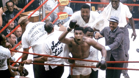 Muhammad Ali after being Sonny Liston