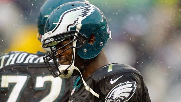 Michael Vick during the Philadelphia Eagles' loss to the Atlanta Falcons