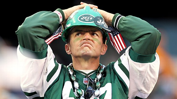 New York Jets fan during his team's loss to the Miami Dolphins