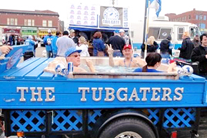 Lions fans have been known to drop their skivvies for a dip in the tubgate in Detroit's Eastern Market.