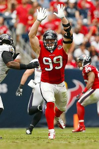 Seattle's battered offensive line could be in for a long day against J.J. Watt and the Texans.