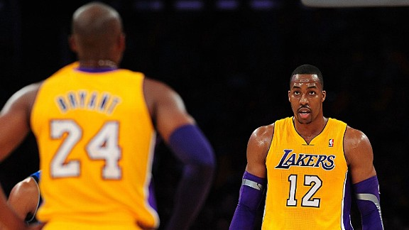 Kobe Bryant, Dwight Howard and the Los Angeles Lakers against the Dallas Mavericks