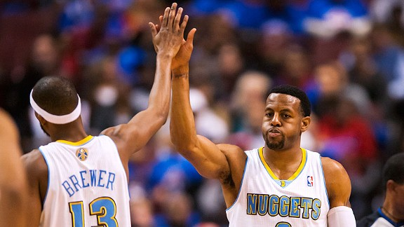 Andre Iguodala's return to Philadelphia rough on the Denver Nug…
