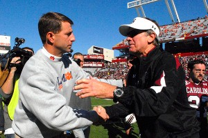Dabo Swinney and Steve Spurrier