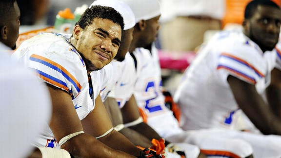 Jordan Reed of the Florida Gators during a loss to the Georgia Bulldogs