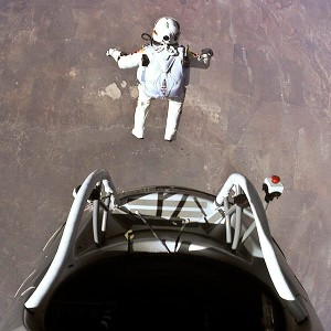 During his spectacular free fall last year, Felix Baumgartner became the first person to reach supersonic speed without traveling in a jet or spacecraft after jumping out of a capsule that reached an altitude of 128,100 feet above Earth.