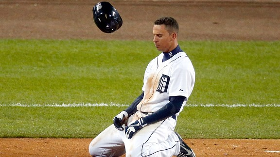 Quintin Berry of the Detroit Tigers during the World Series